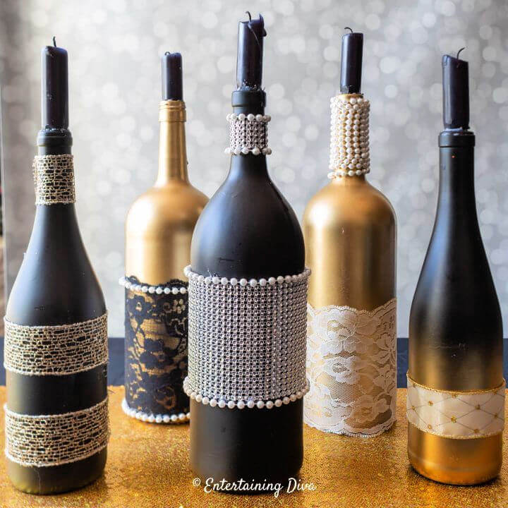 How to Make Wine Bottle Centerpieces