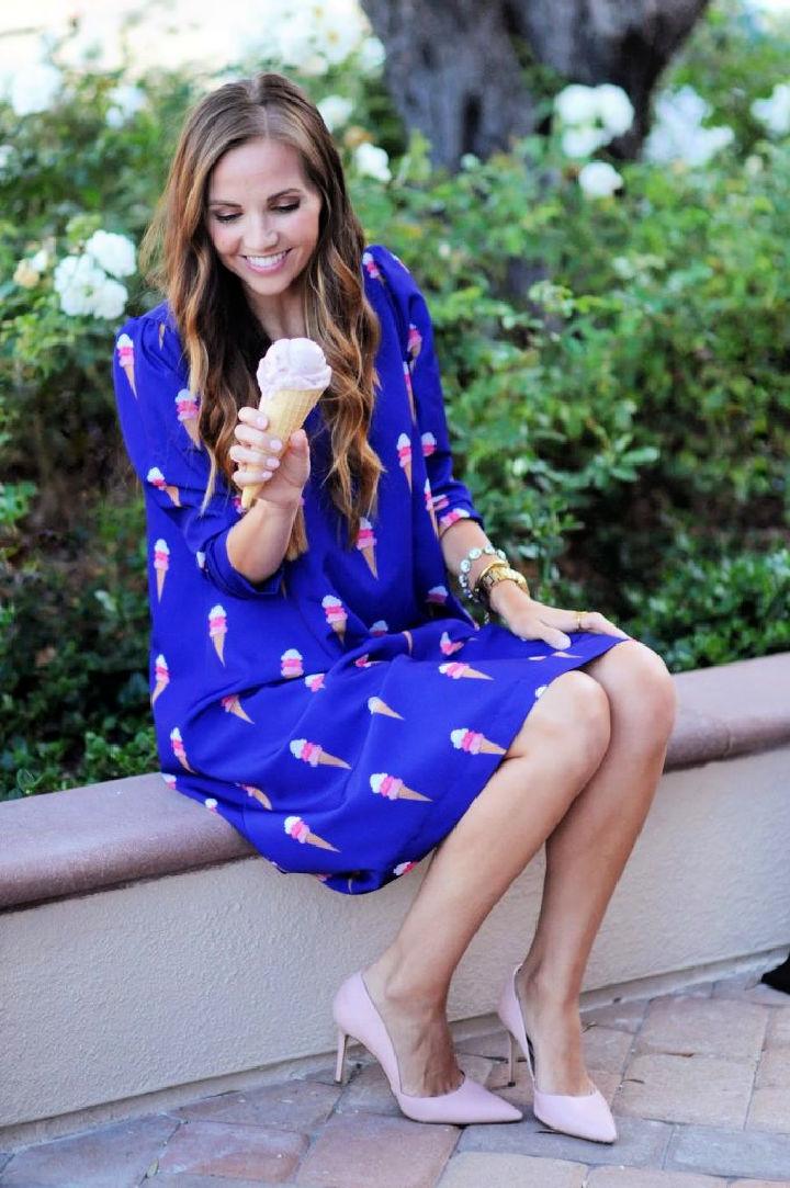 Ice Cream Swing Dress