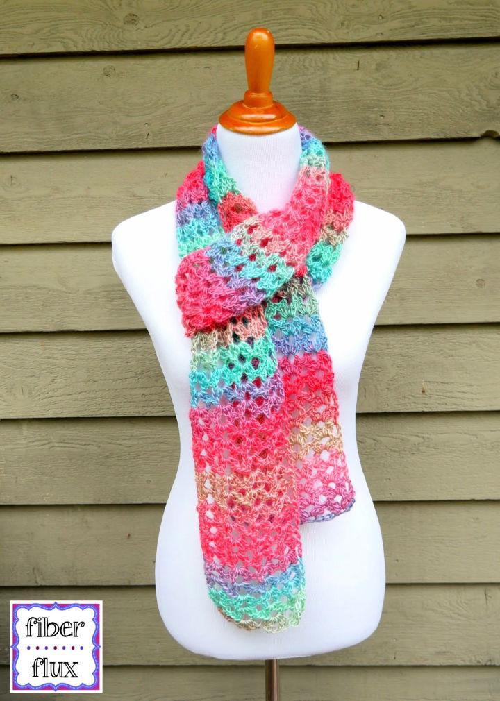Island Crochet Lace Scarf