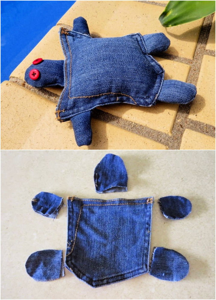 Jeans Pocket Turtle for Kids