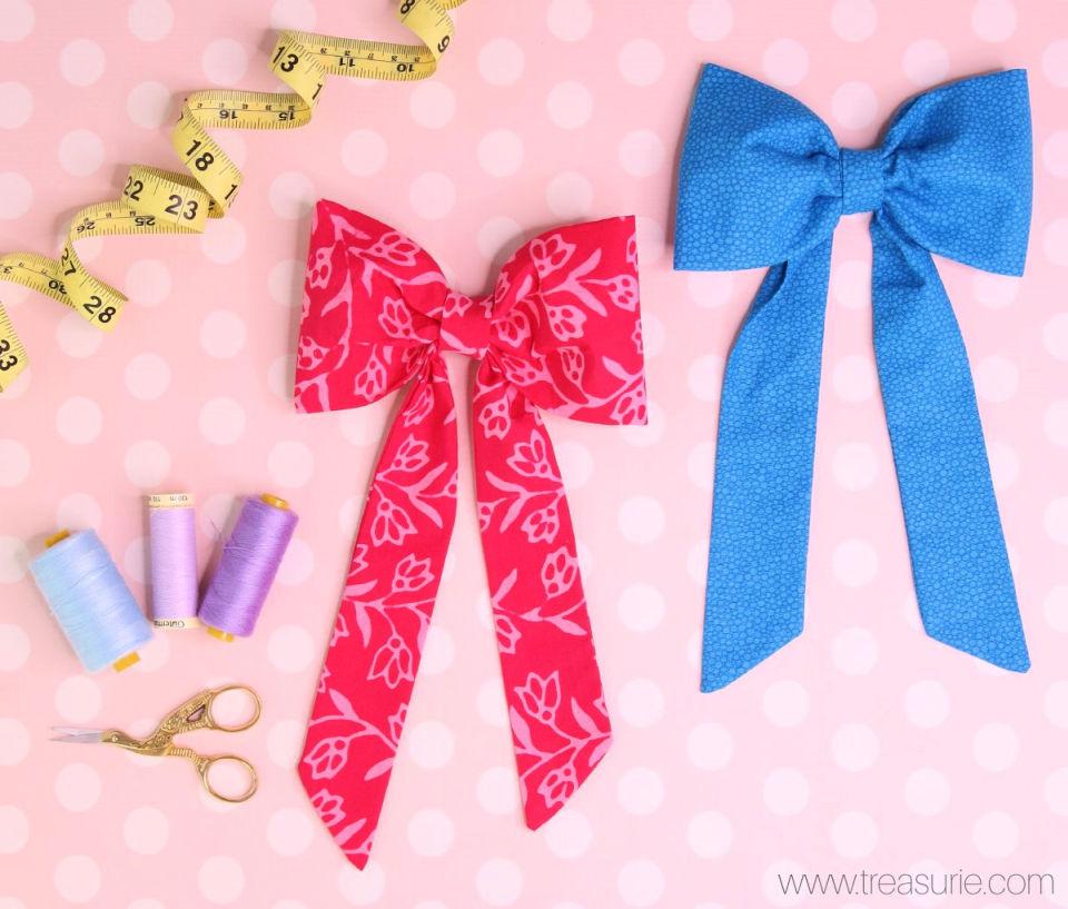 Large Fabric Hair Bow