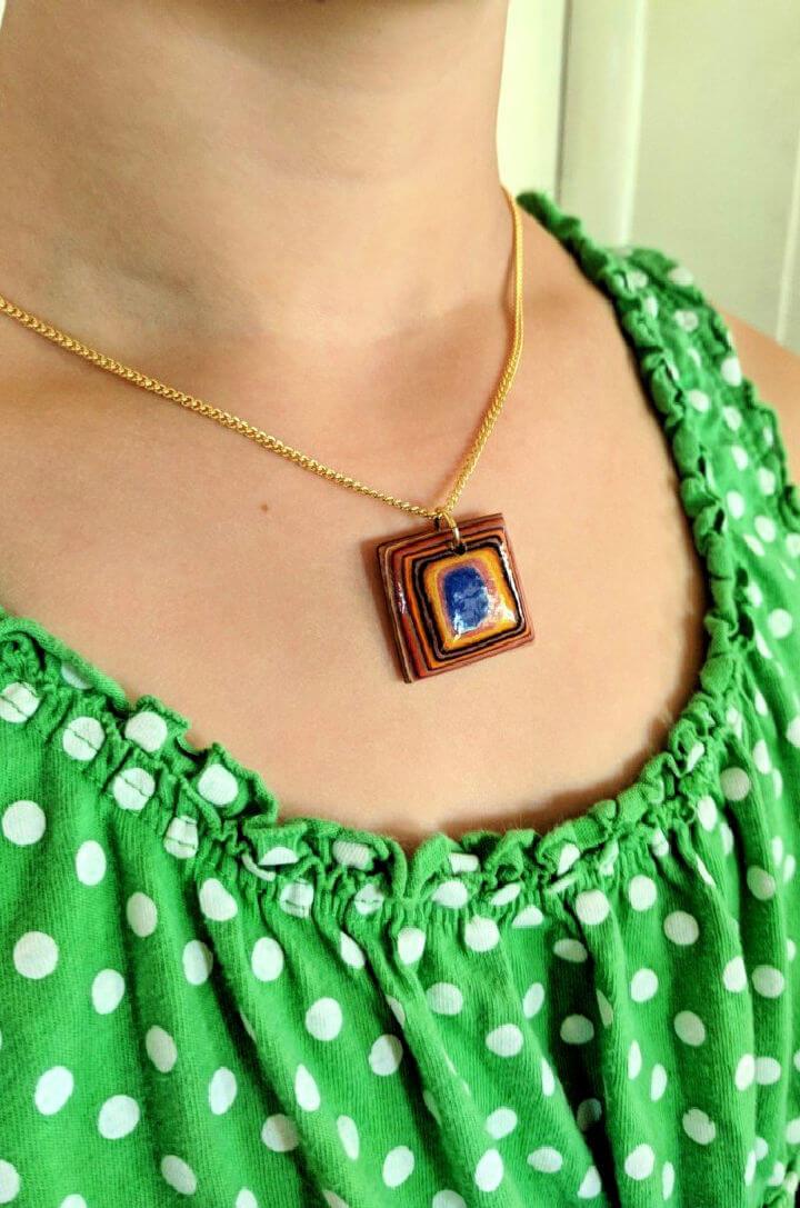 Layered Paper Veneer Necklace