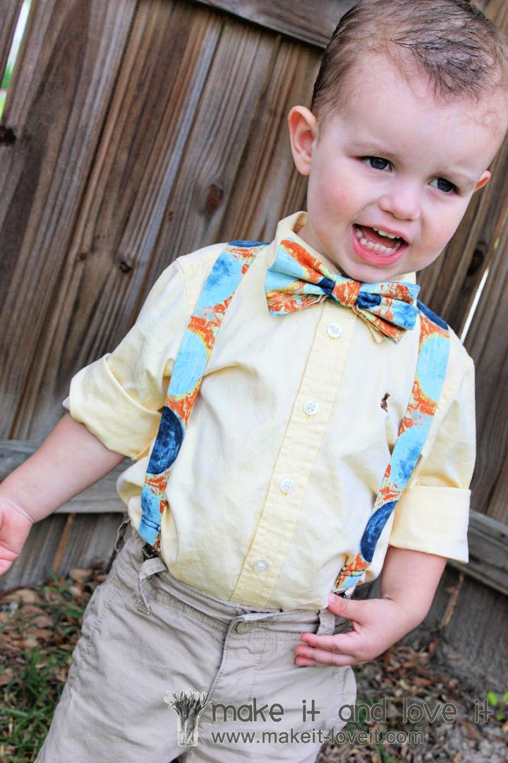 Little Boy Suspenders Sewing Pattern