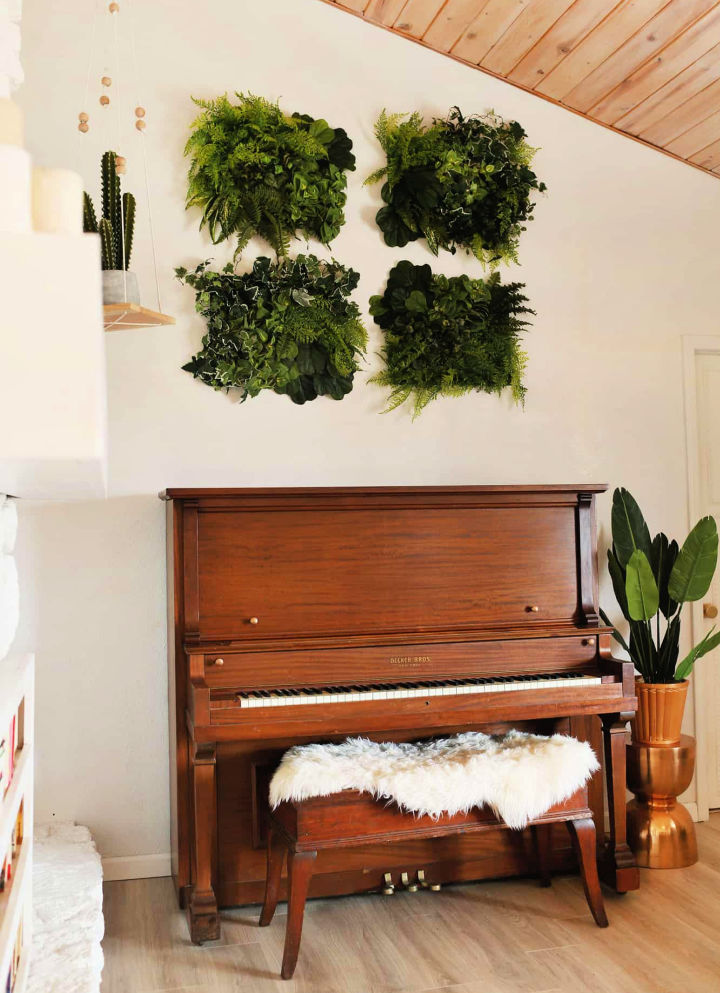 Living Wall Art from Artificial Plants