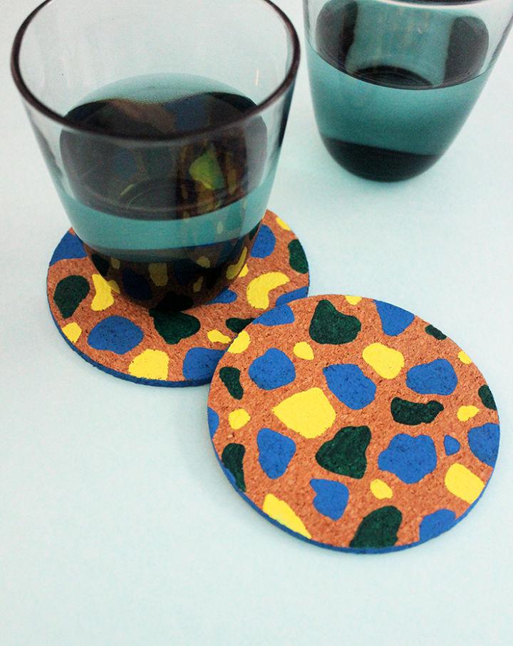 Make Terrazzo Coasters