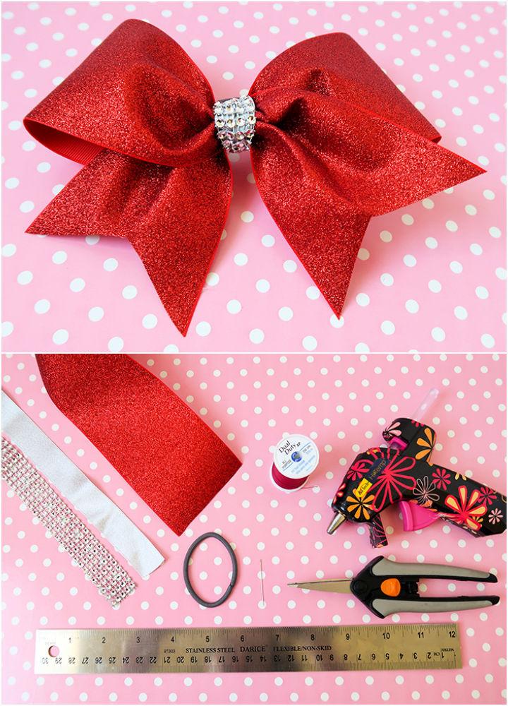 Make a Cheerleader Hair Bow