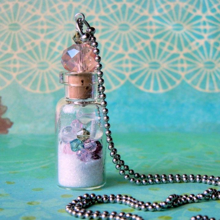 Make a Glass Bottle Vial Necklace
