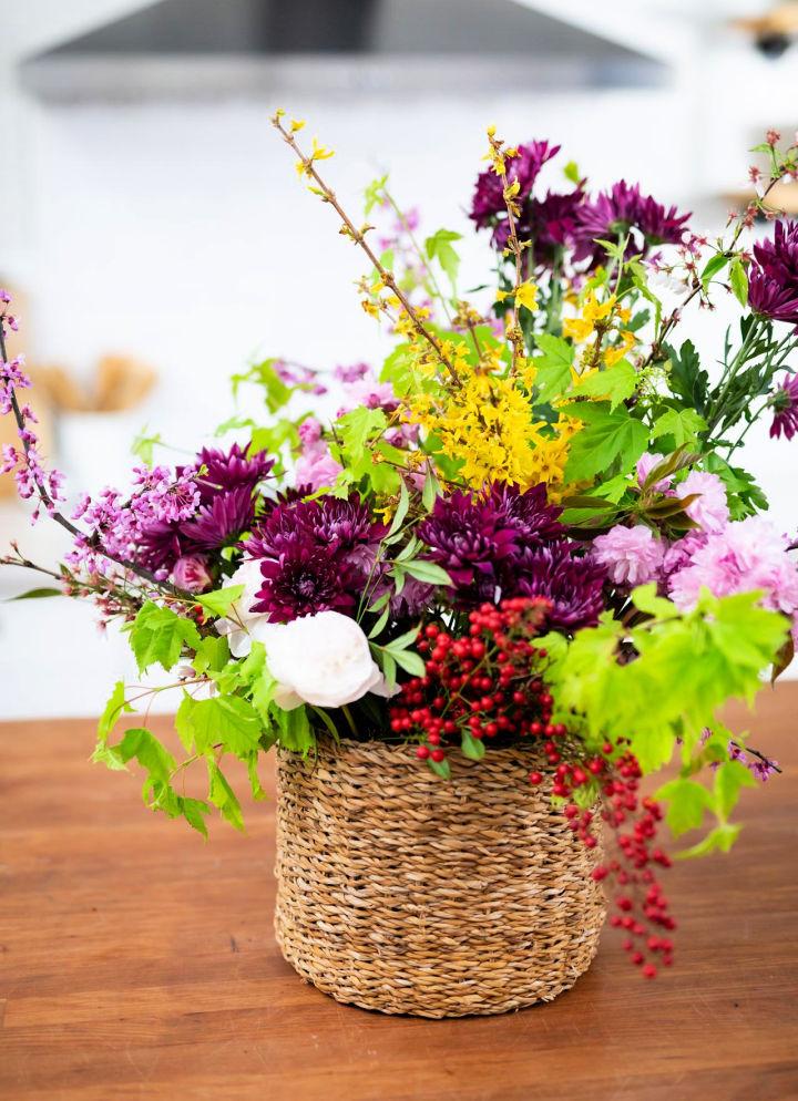 Make a Large Flower Arrangement