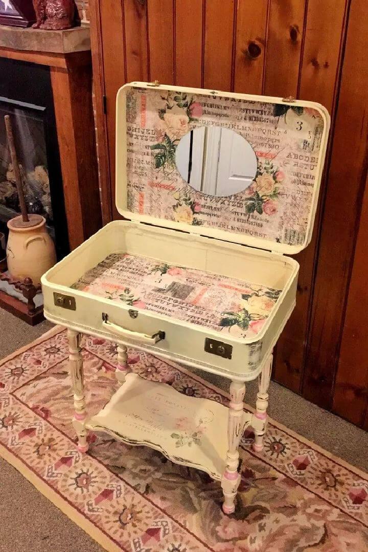 Make a Suitcase Vanity