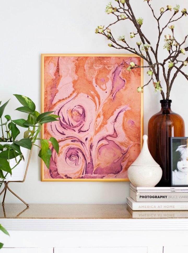 Marbleized Paper Wall Art