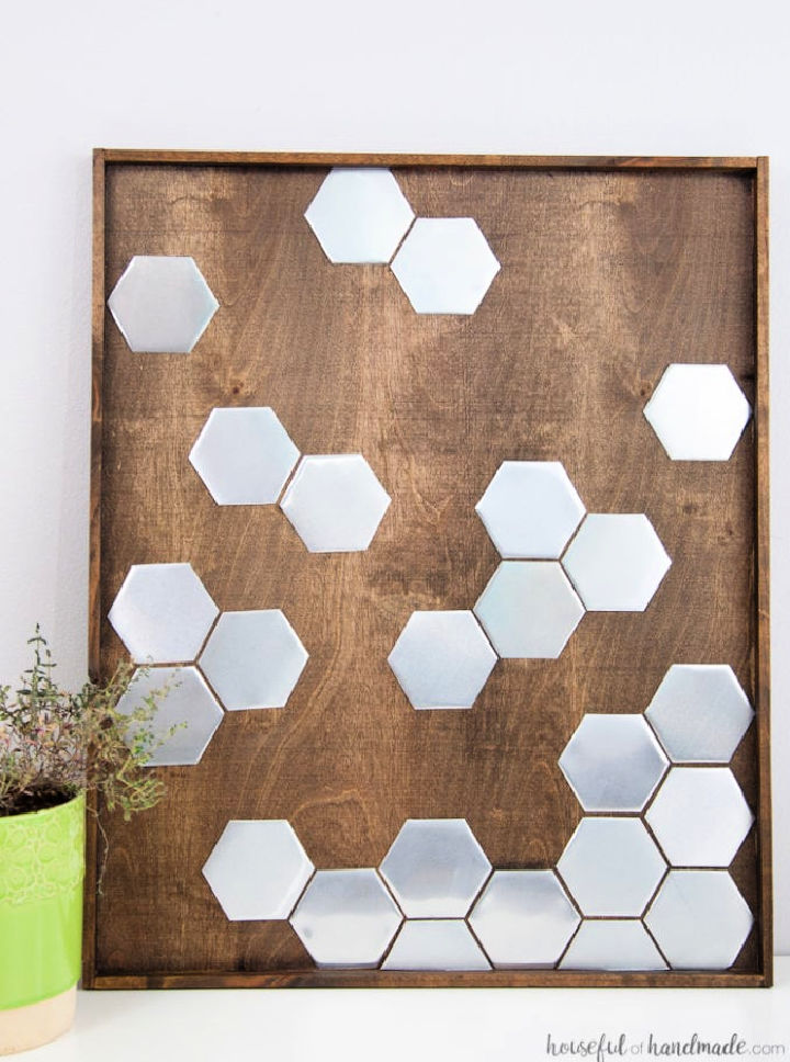 Metal Hexagon Wall Art