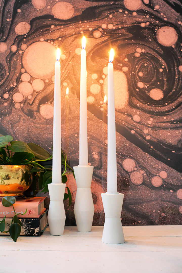 Mid Century Candlestick Holders