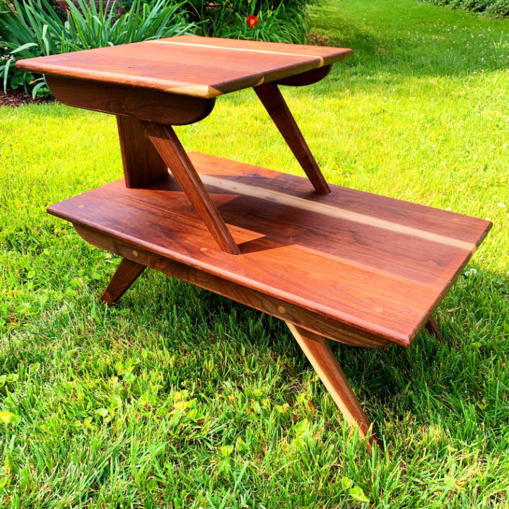Mid Century Walnut End Table