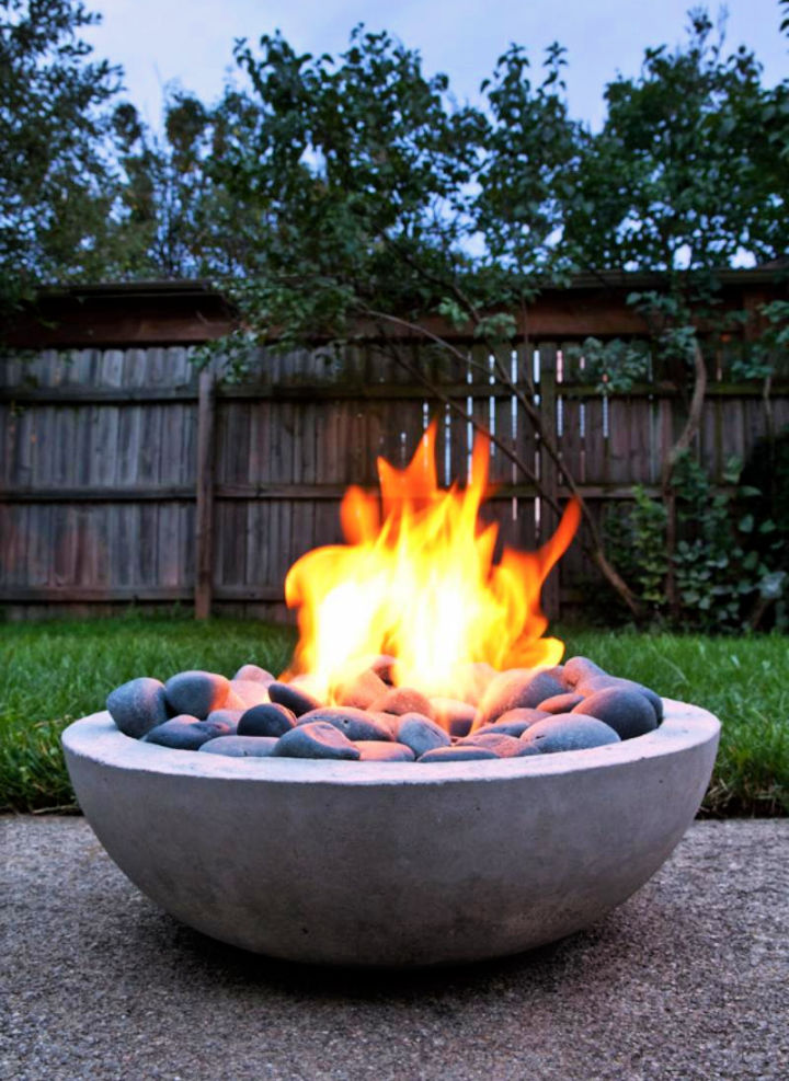 Modern Concrete Fire Pit from Scratch