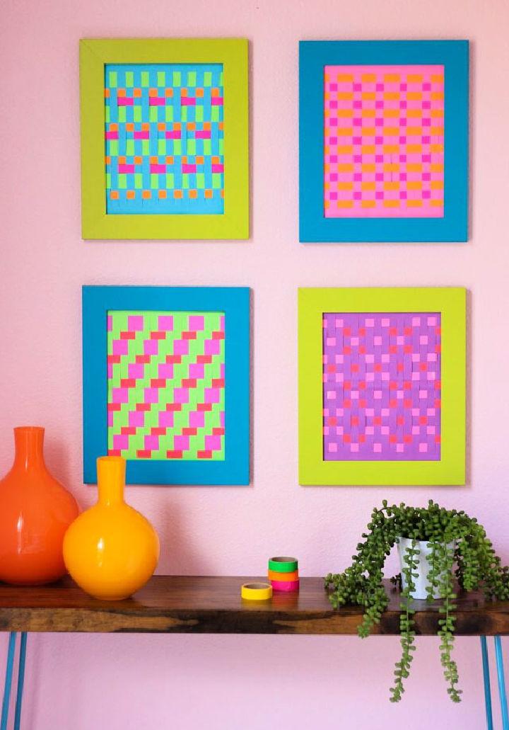 Modern Woven Paper Wall Art