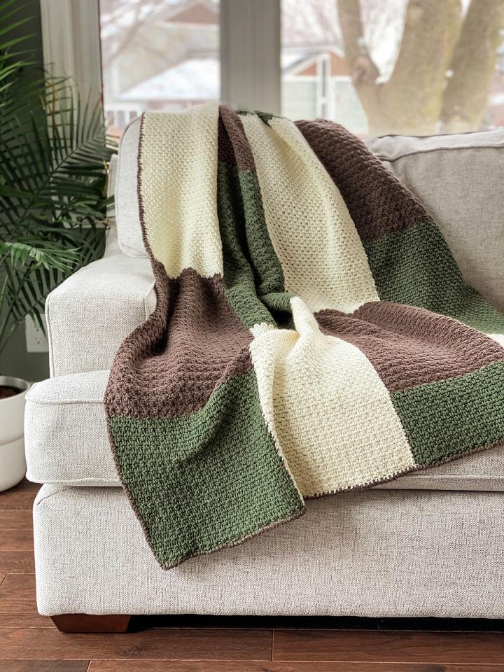 Moxie Block Blanket Crochet Pattern