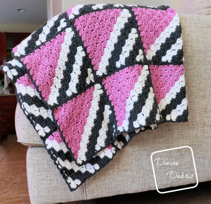 Neapolitan Blanket Crochet Pattern
