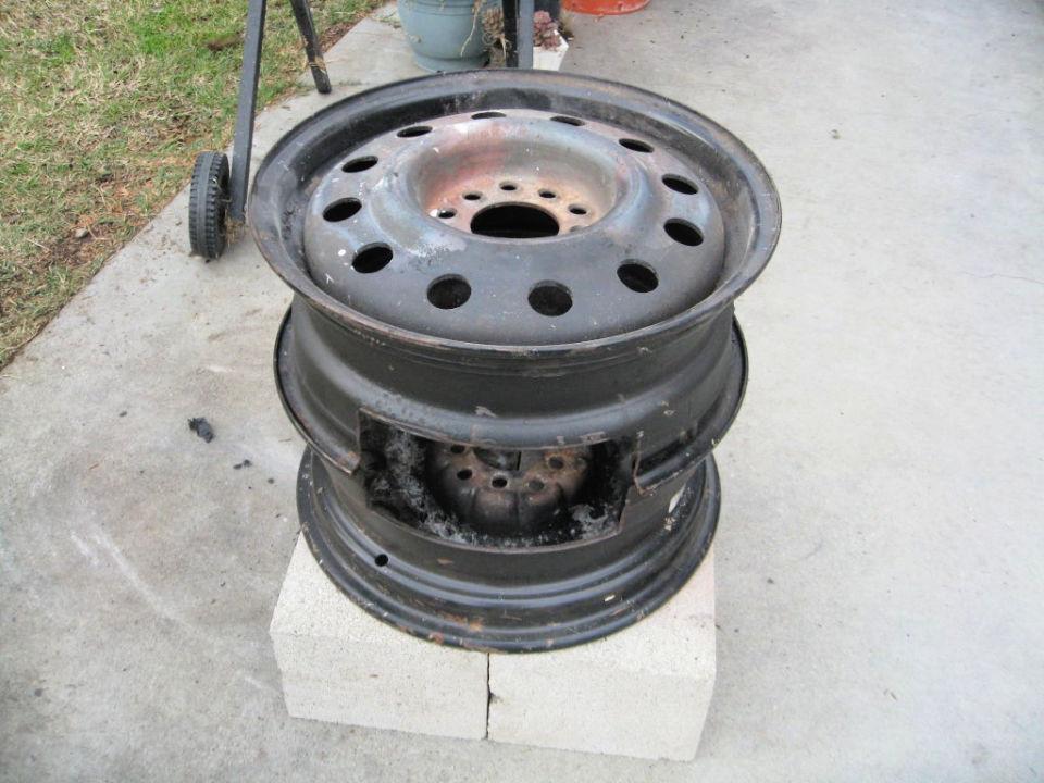 No Weld Car Rims Fire Pit