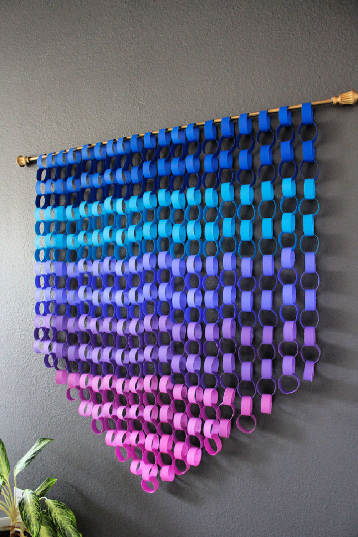 Ombre Paper Chain Wall Art