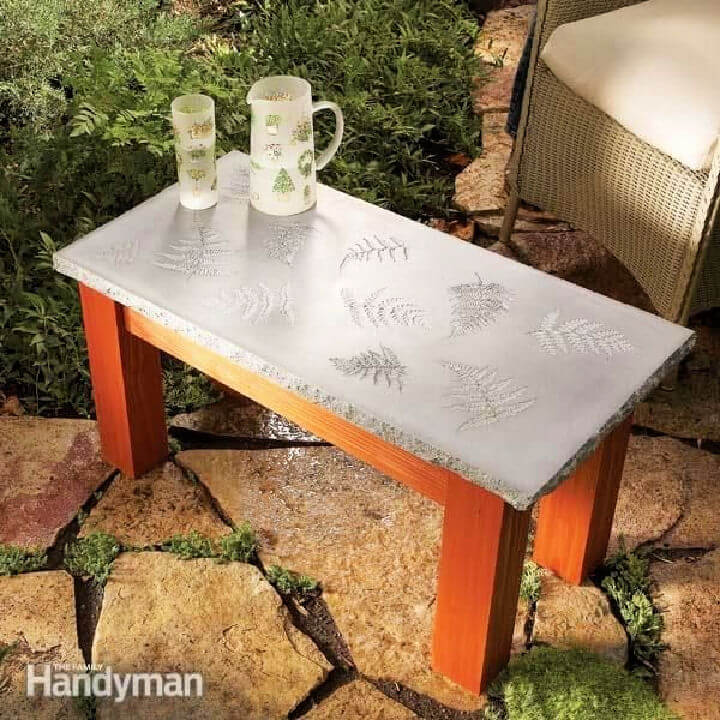 Outdoor Concrete Coffee Table