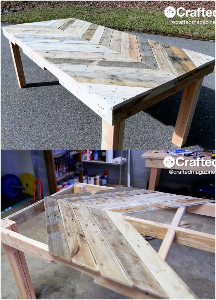 Outdoor Dining Table from Pallet Wood