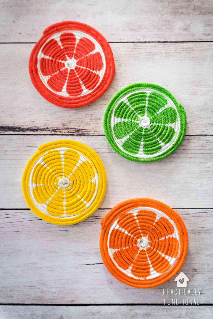 Painted Rope Coasters