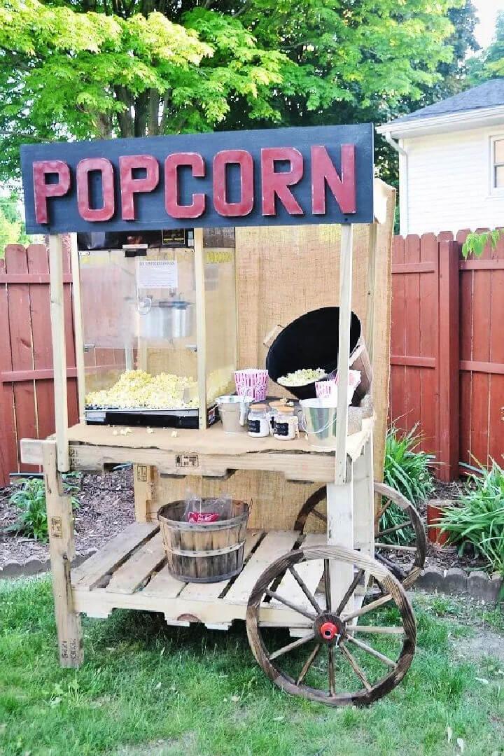Pallet Popcorn Stand