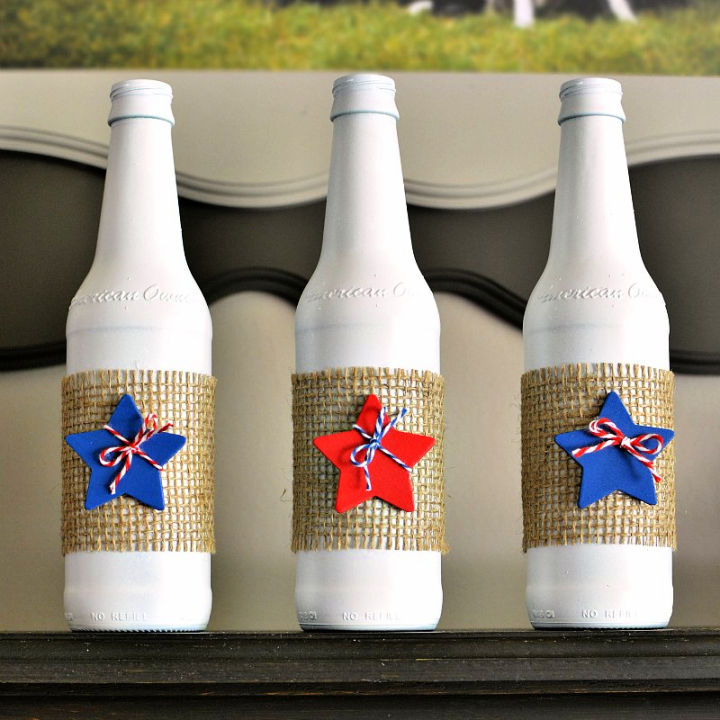 Patriotic Upcycle Glass Bottles