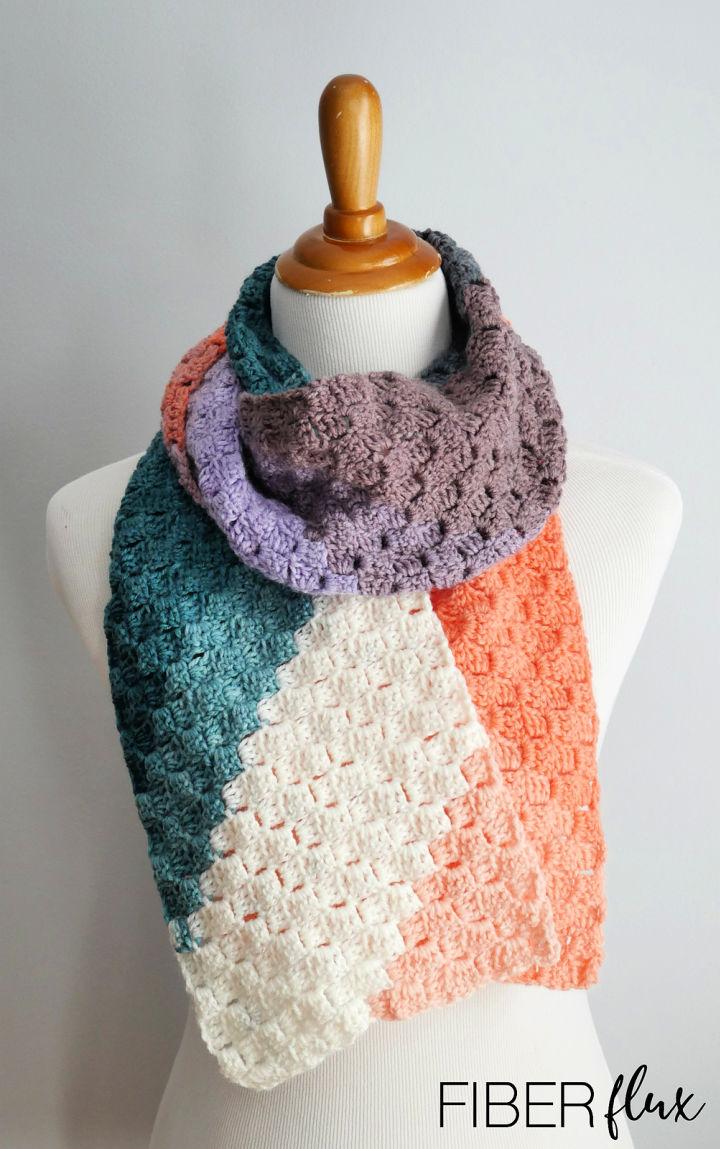 Peach Tree Grove Crochet Scarf