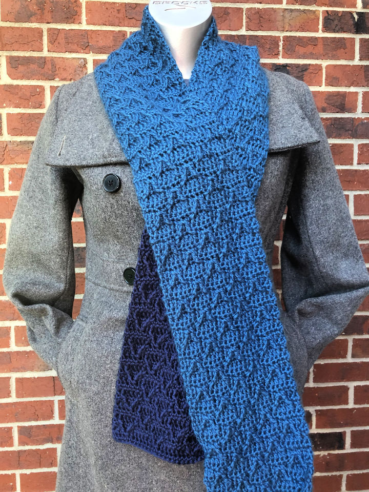Peaks Crochet Scarf