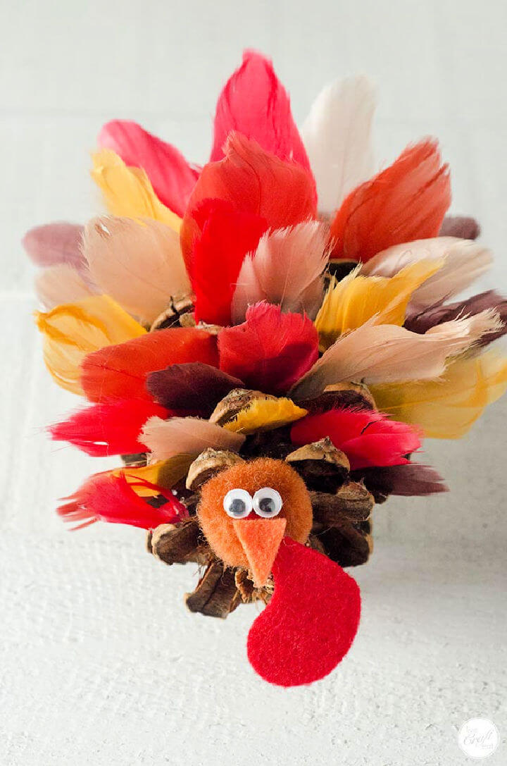 Pinecone Turkeys with Silk Feathers