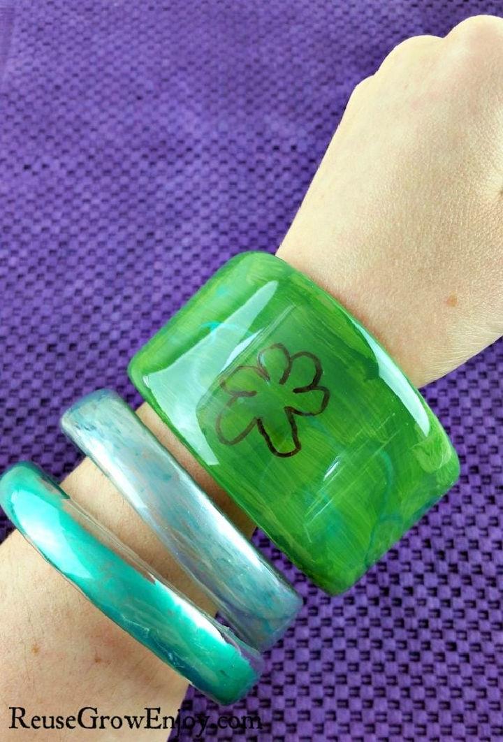 Plastic Bottle Bangle Bracelets