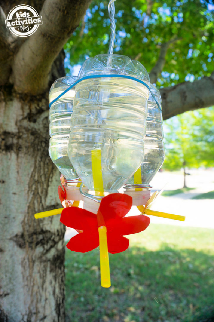 Plastic Bottle Hummingbird Feeder