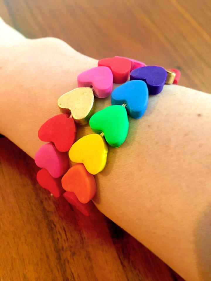 Polymer Clay Heart Bracelets