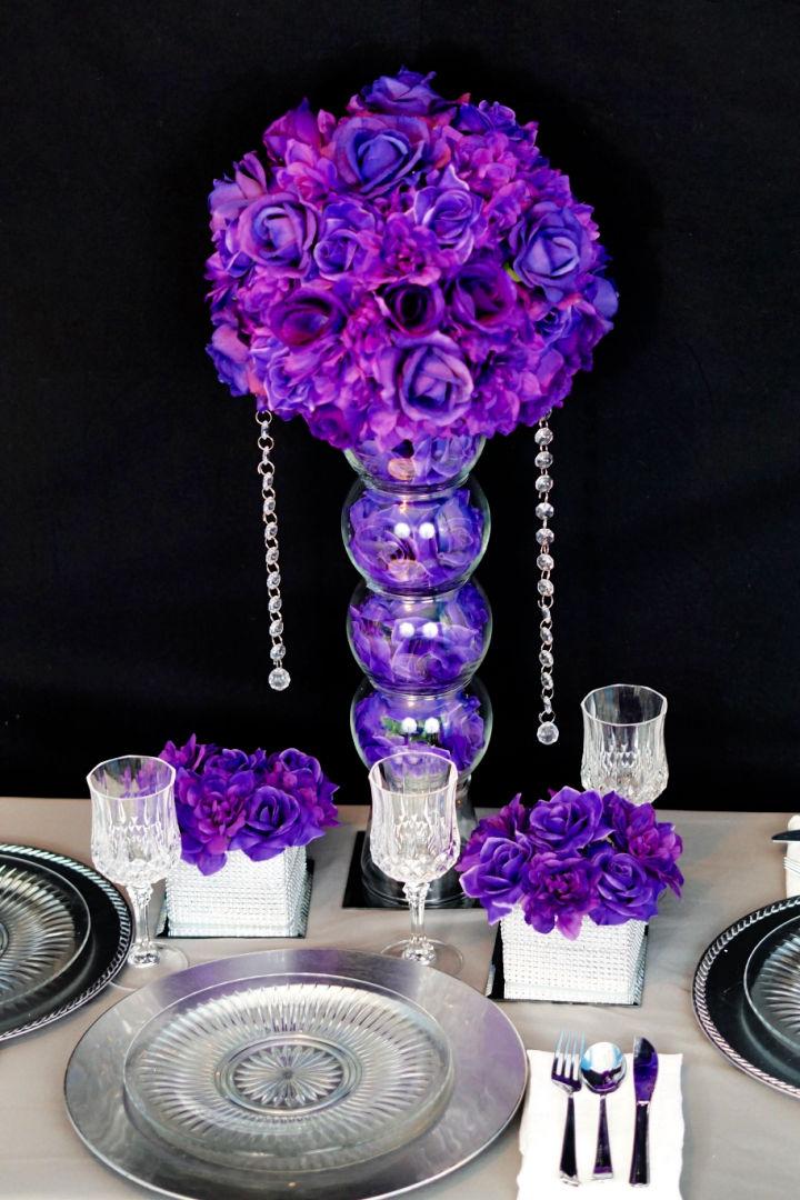 Purple Passion Flower Wedding Centerpiece