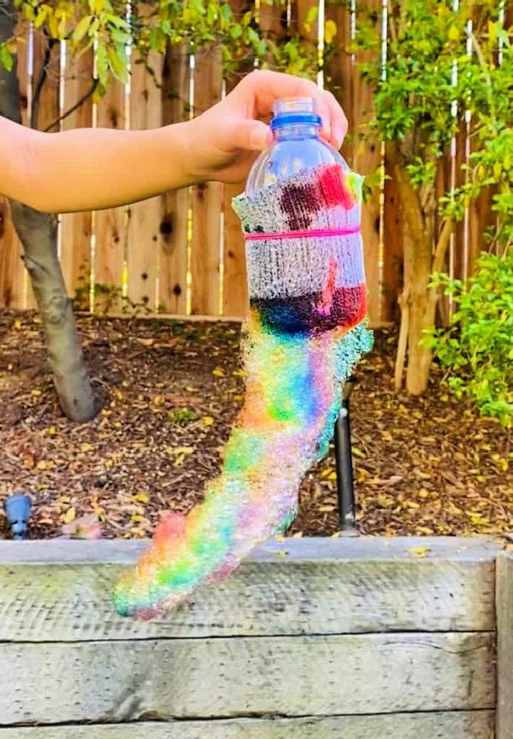 Rainbow Bubble Snakes from Soda Bottle