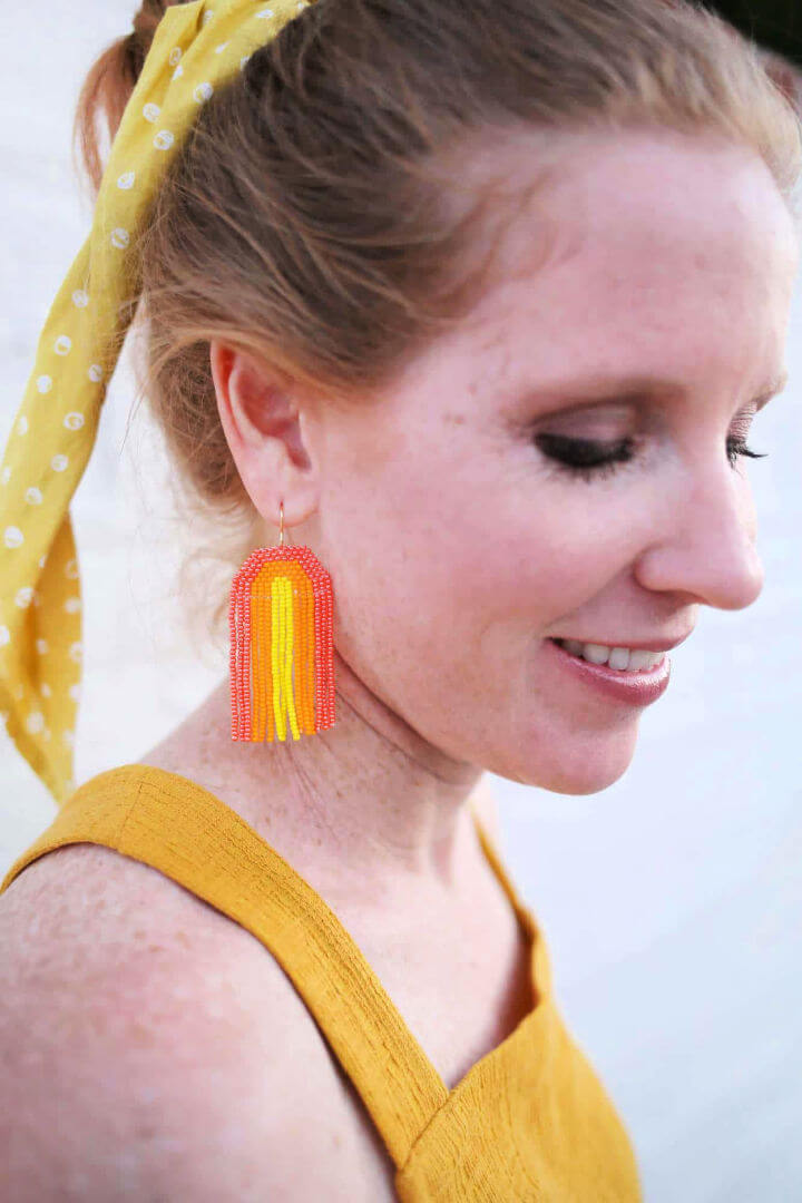 Rainbow Seed Bead Earrings