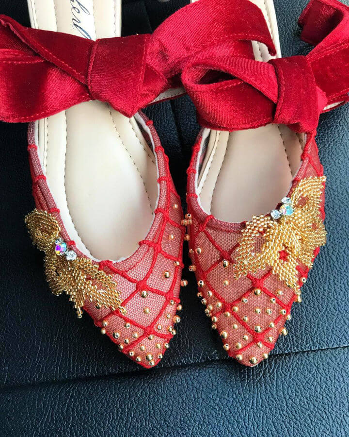 Red and Gold Shoes for Chinese New Year