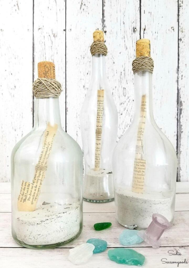 Repurposed Wine Bottle Centerpieces