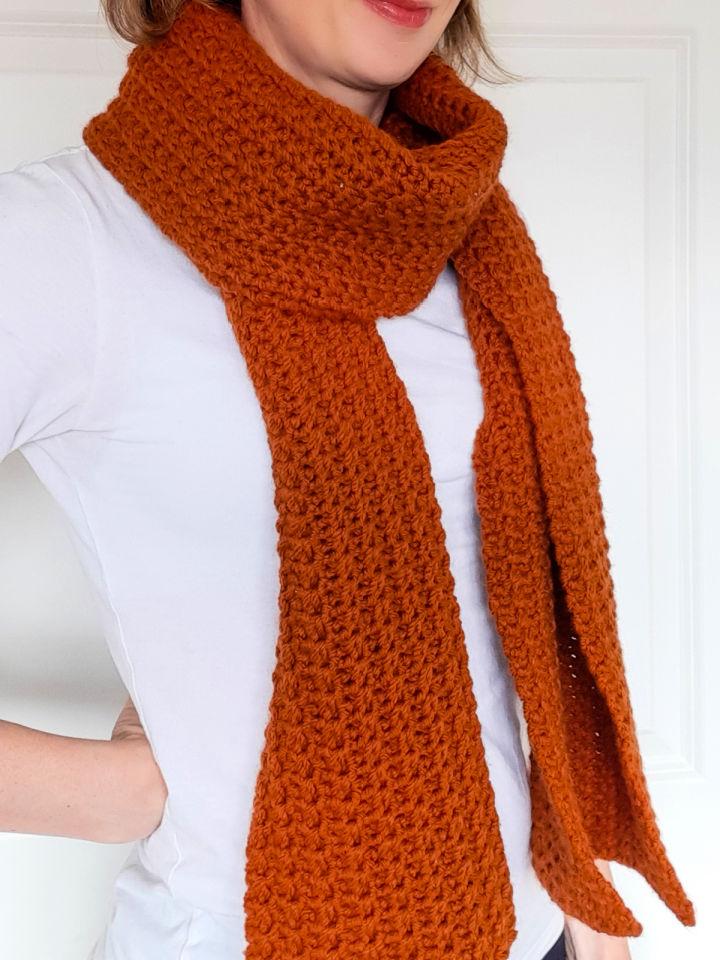 Ribbed Crochet Scarf Free Pattern
