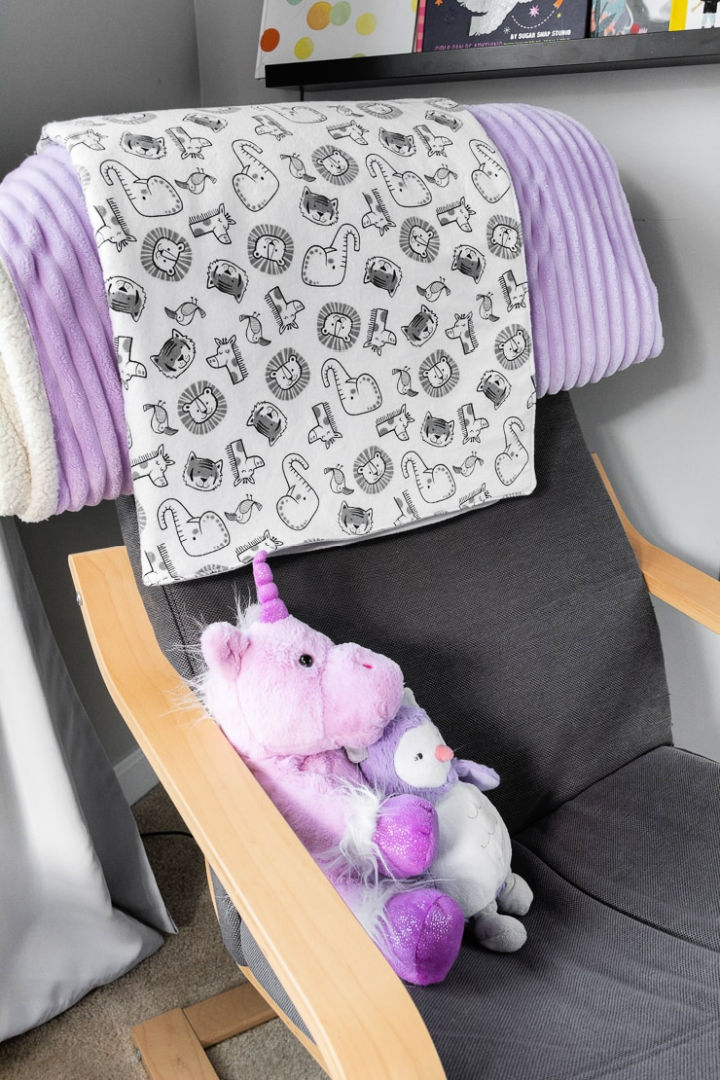 Sew a Double Sided Baby Blanket