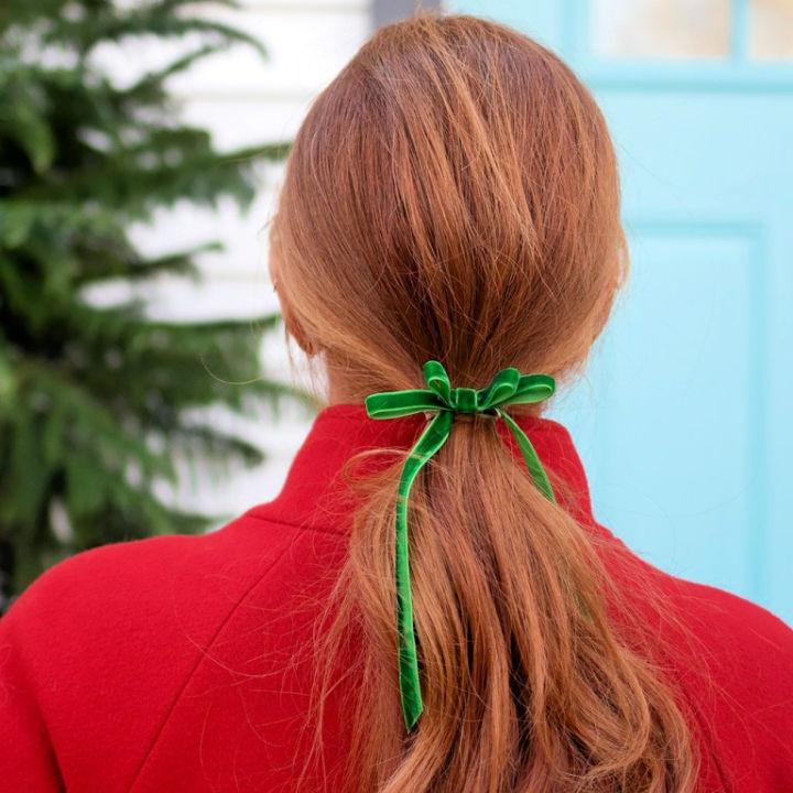 Sew a Velvet Hair Bow