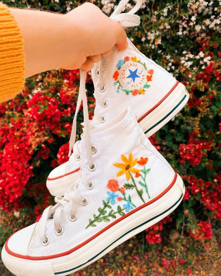 Shoe Embroidery Makeover