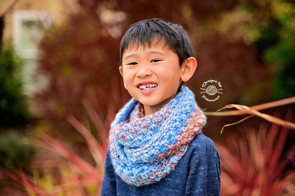 Single Crochet Granite Infinity Scarf