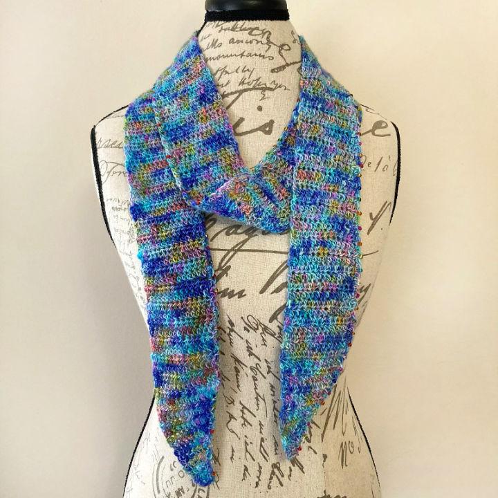 Skinny Crochet Scarf Pattern