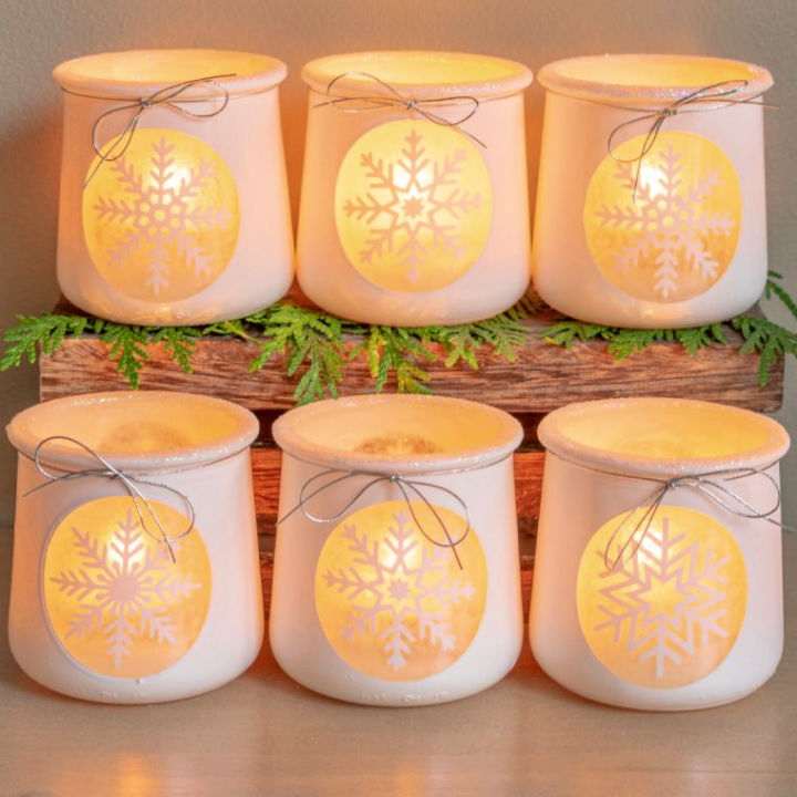 Snowflake Votives Candle Holders