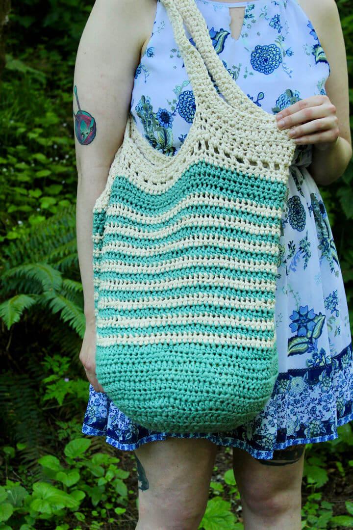 Striped Tote Bag Crochet Pattern