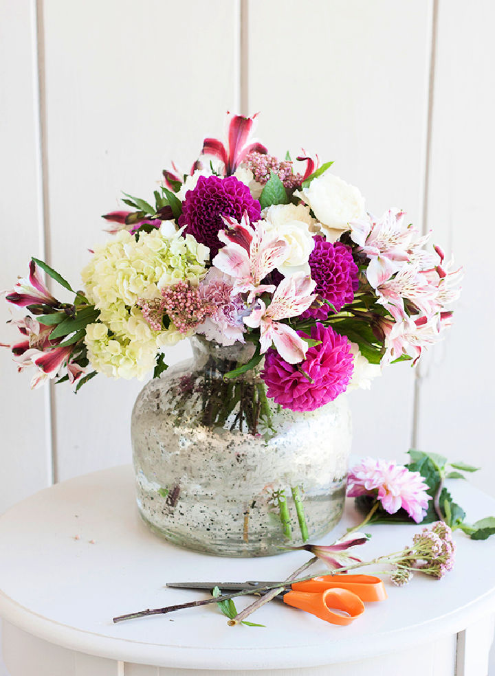 Summer DIY Flower Arrangement
