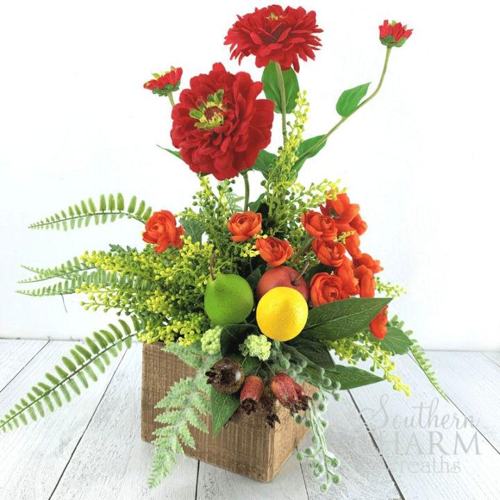 Summer Silk Flower Arrangement