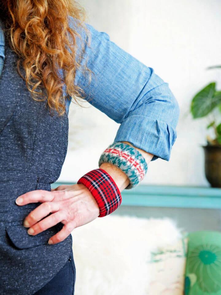 Trendy Flannel Cuff Bracelets